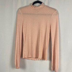 NWT American Rag Blush Mock Neck Top - M